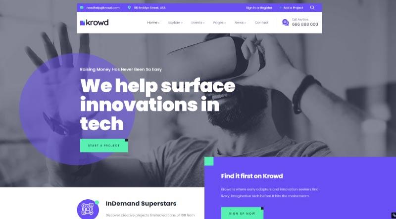 Krowd WordPress Theme