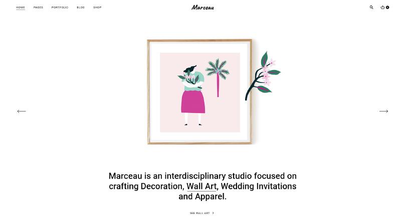 Marceau WordPress theme