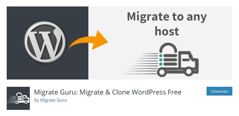 Migrate Guru Migrate & Clone WordPress Free Plugin