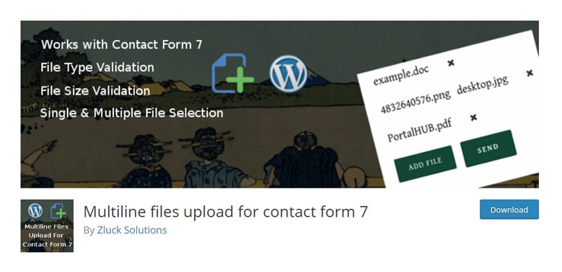 Multiline files upload for ontact form 7 Plugin