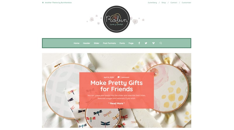 Robin WordPress Theme