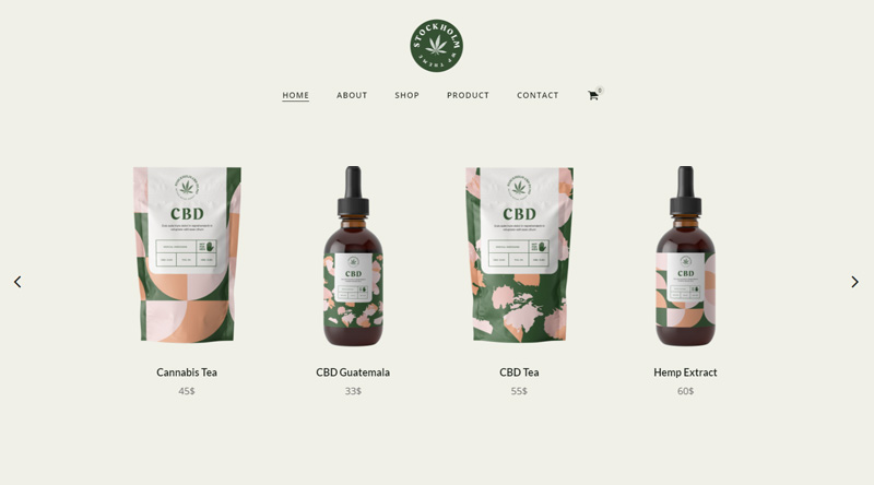 Stockholm Marijuana WordPress Themes