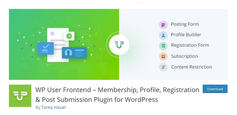 WP User Frontend Plugin