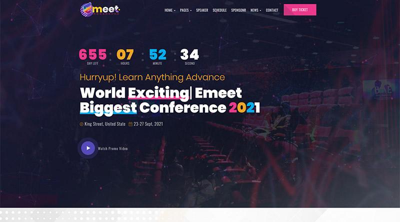 eMeet WordPress Theme