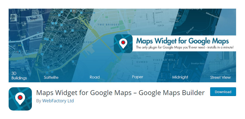 Maps Widget for Google Maps Plugin