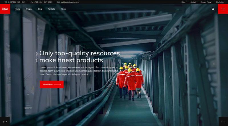 Stal Corporate WordPress Theme