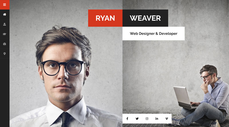 Divergent vCard WordPress Theme