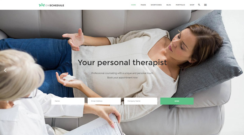 OnSchedule Health WordPress Themes