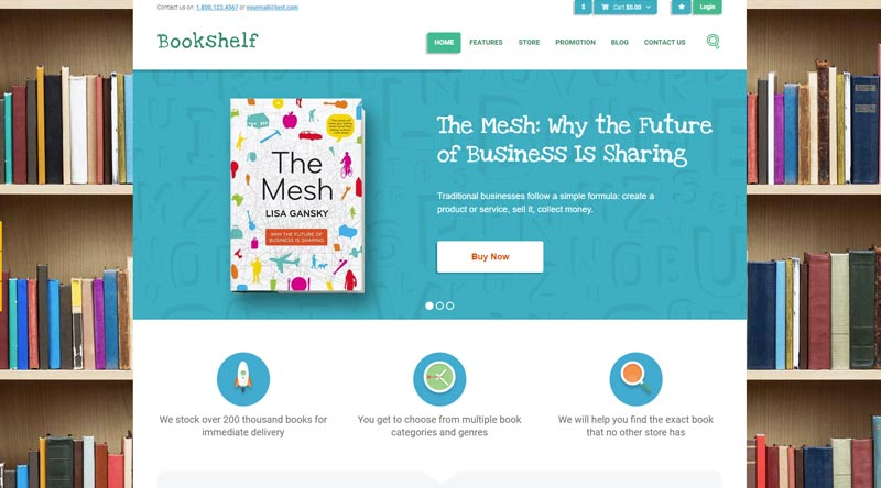 Bookshelf Bridge Publishing WordPress Themes