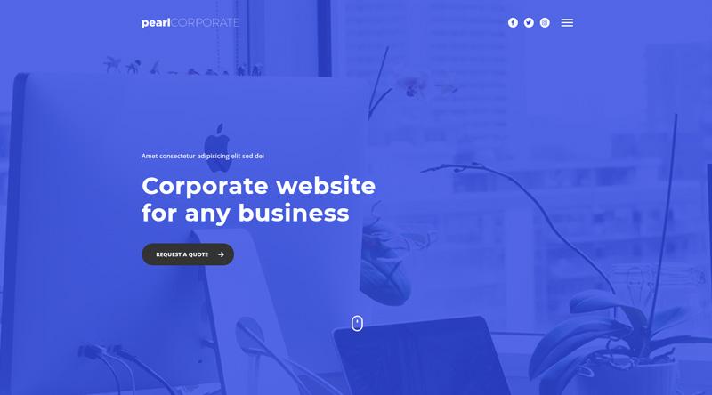 Pearl Corporate WordPress Theme