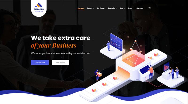 Finanol Corporate WordPress Theme