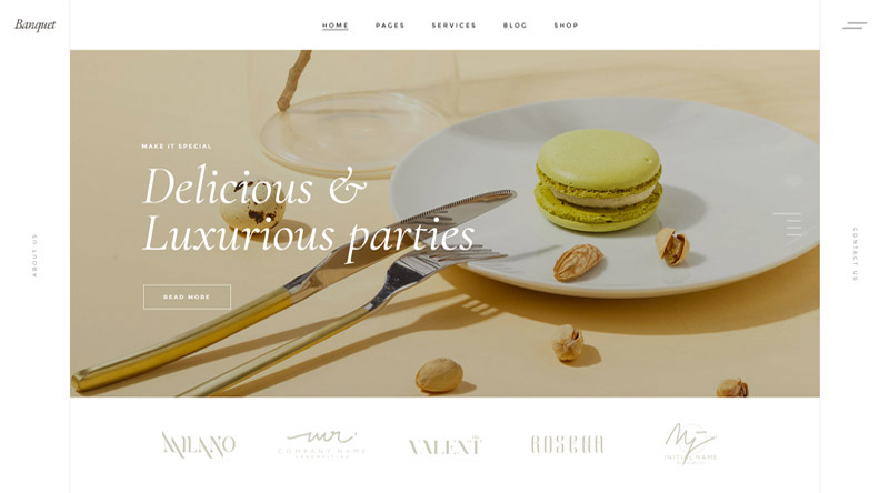 Banquet Modern WordPress Theme