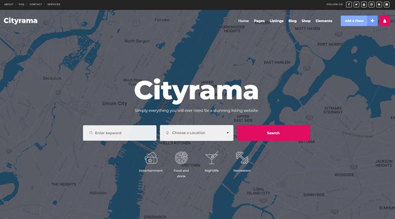 Cityrama WordPress Theme