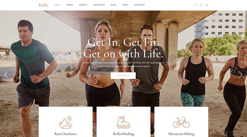 Dalia Fitness WordPress Theme