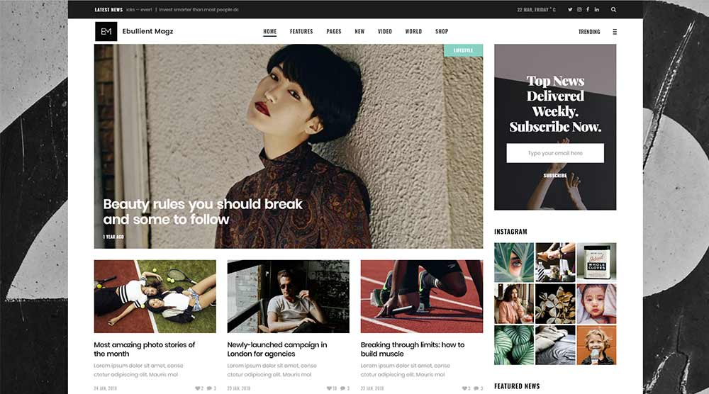 Ebullient WordPress Theme