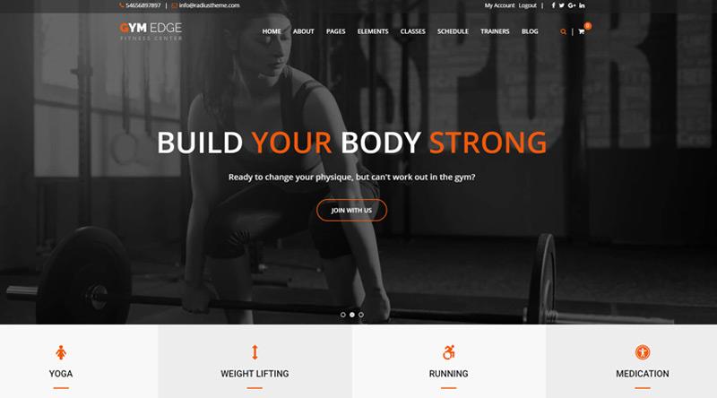 Gym Edge WordPress Theme