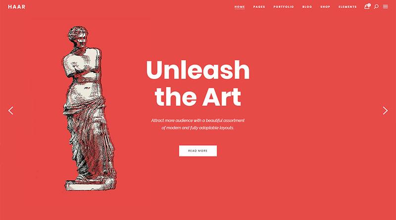 Haar museum WordPress Theme