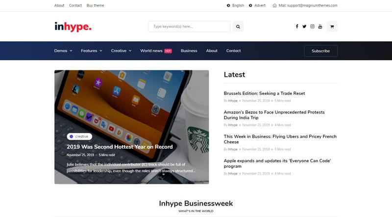 InHype WordPress Theme