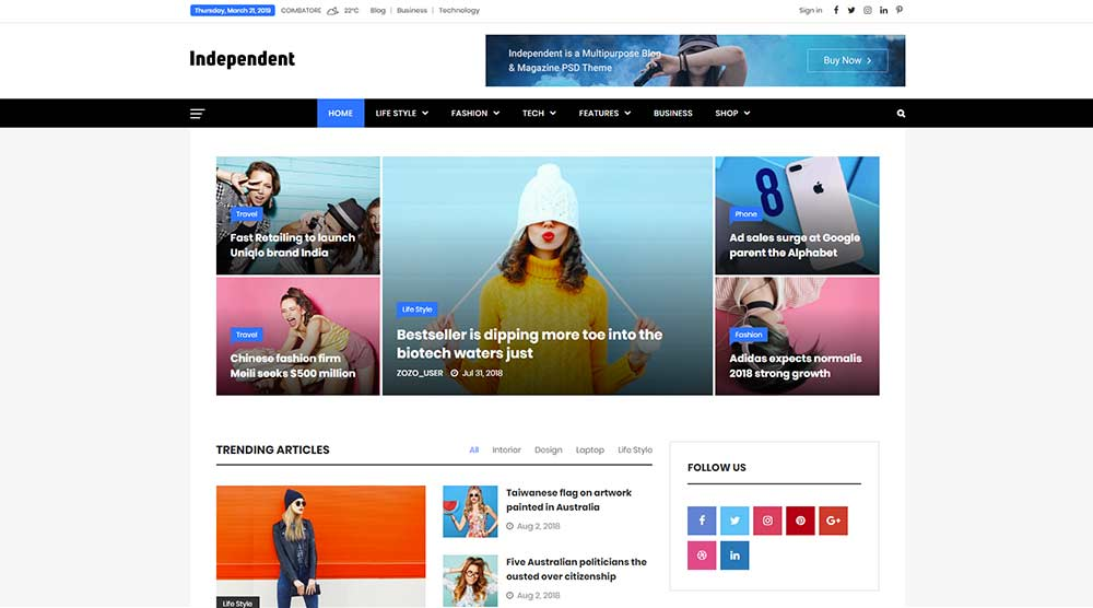 Independent WordPress Theme