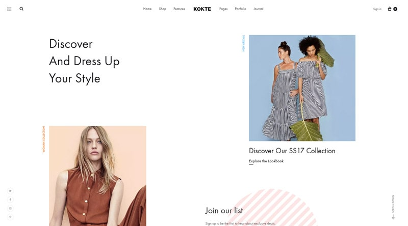 Konte Modern WordPress Theme