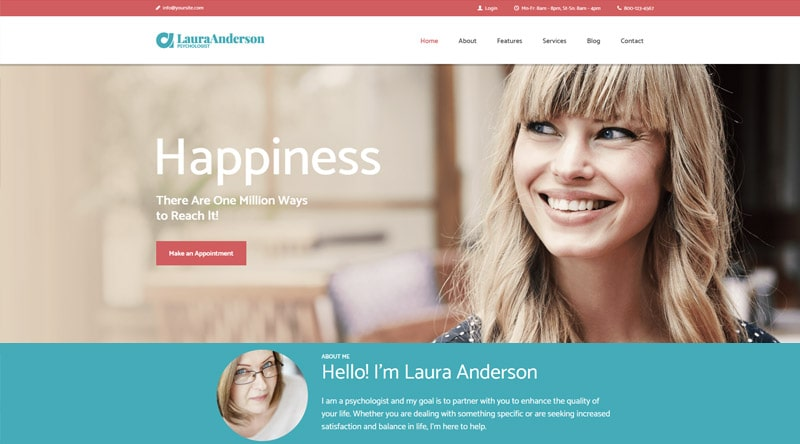 Psychologist WordPress Theme