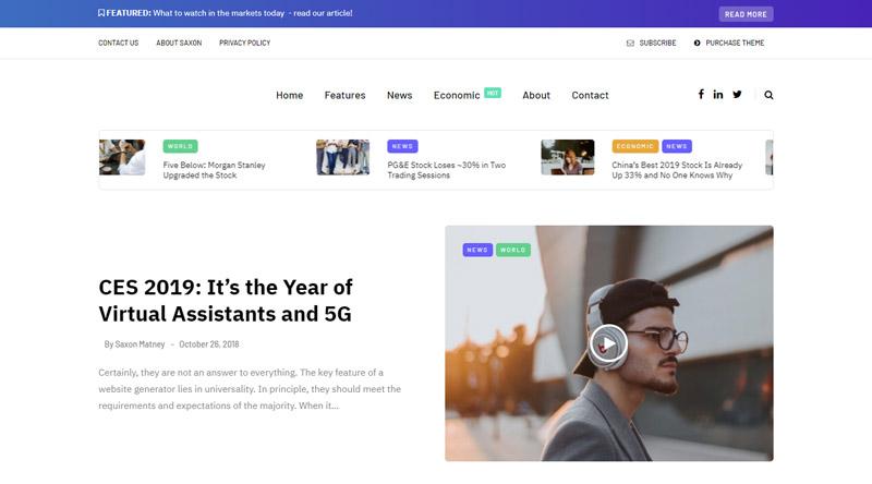 Saxon WordPress Theme