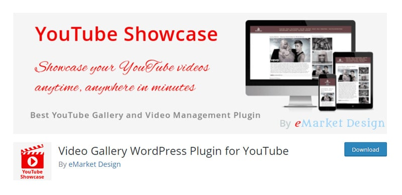 Video Gallery WordPress Plugin for YouTube