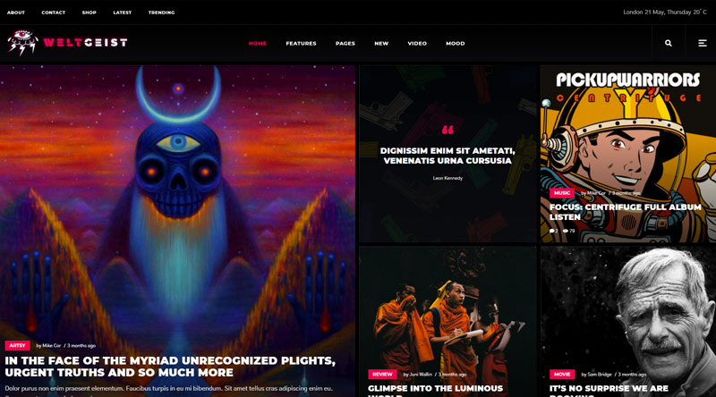 Weltgeist WordPress Theme