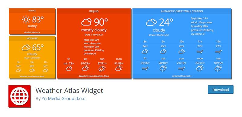 Weather Atlas Widget
