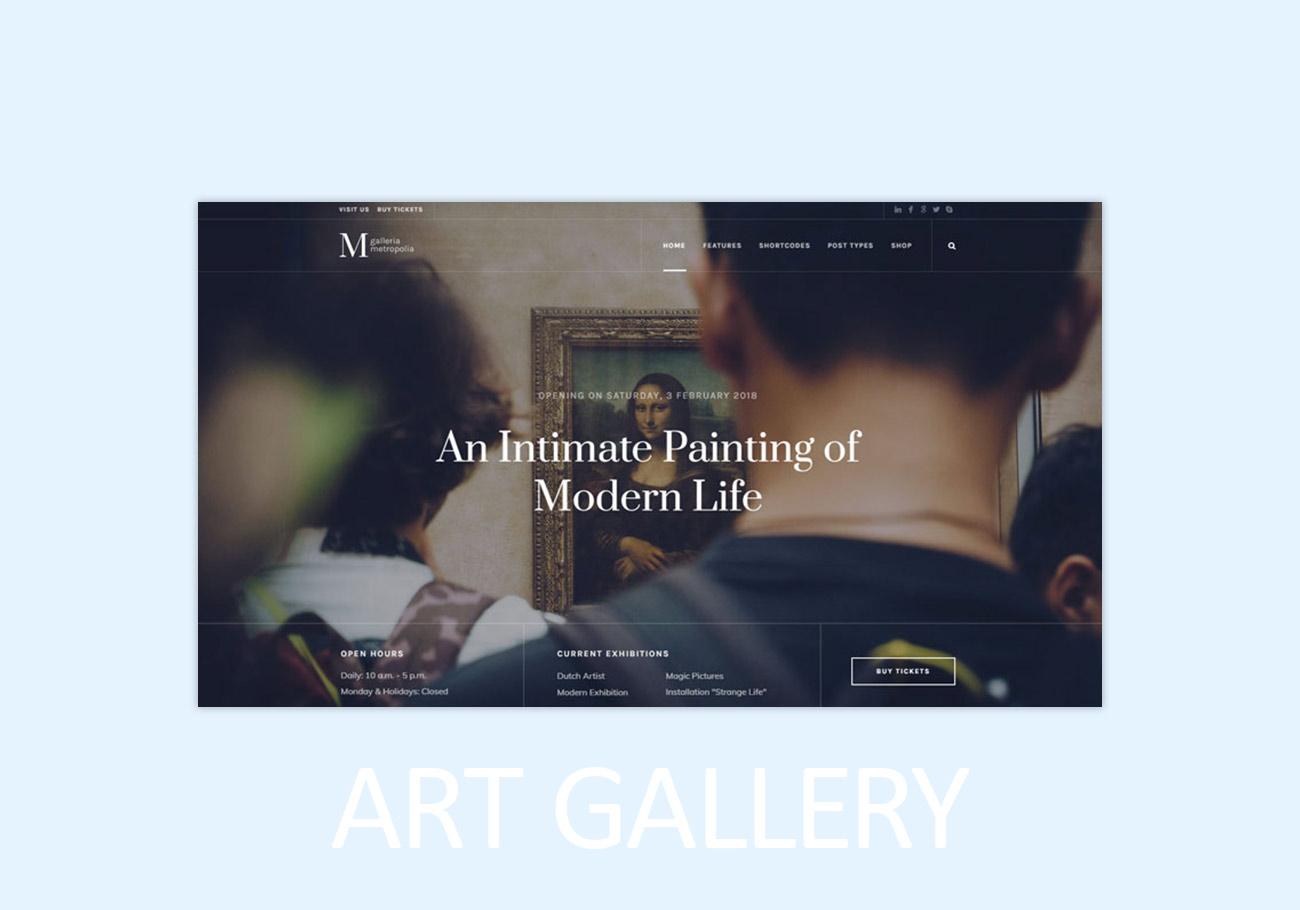 8 Captivating Art Gallery WordPress Themes