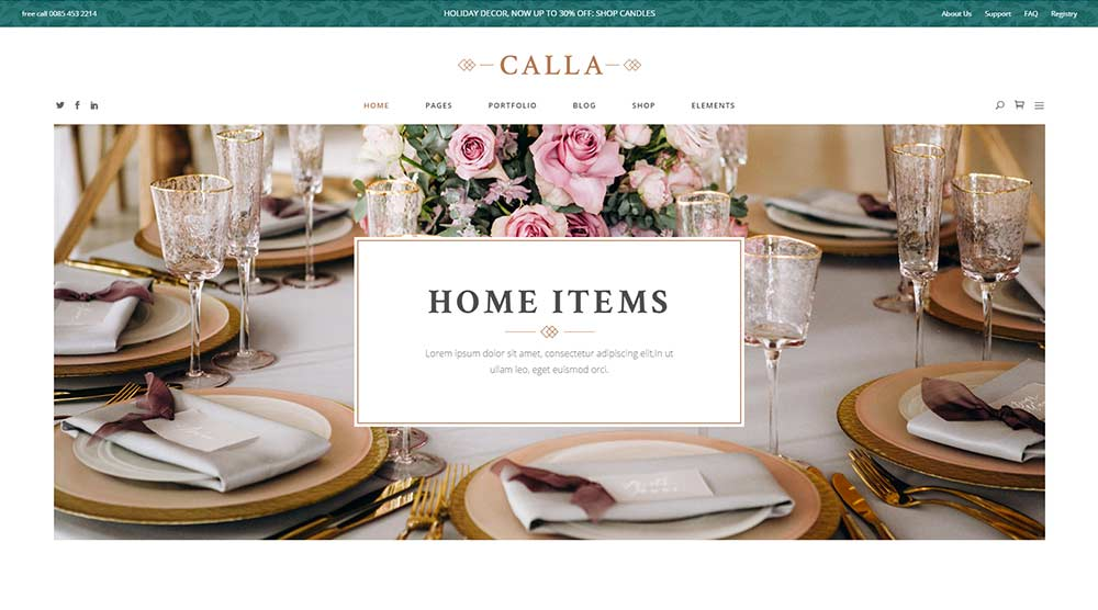 Calla WordPress Theme