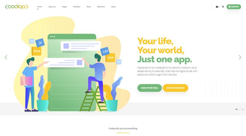 Codiqa WordPress Theme