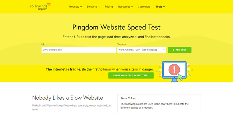 Pingdom Page Speed