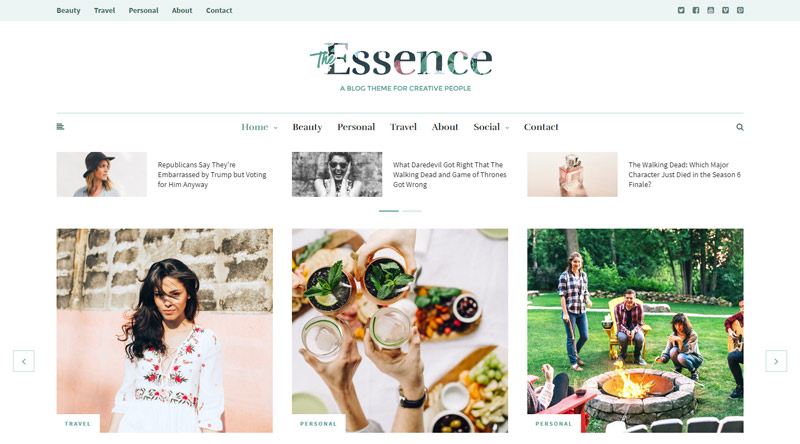 The Essence WP theme