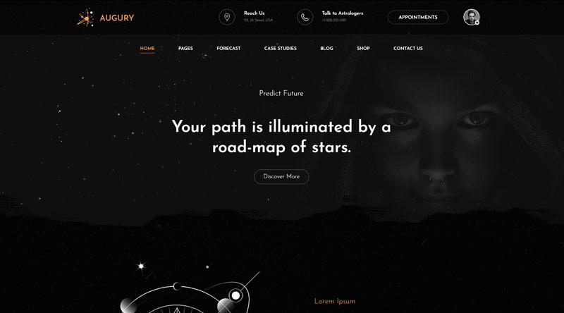 Augury Astrology WordPress Themes