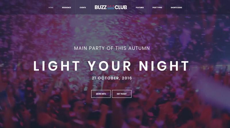 Buzz Club Festival WordPress Theme