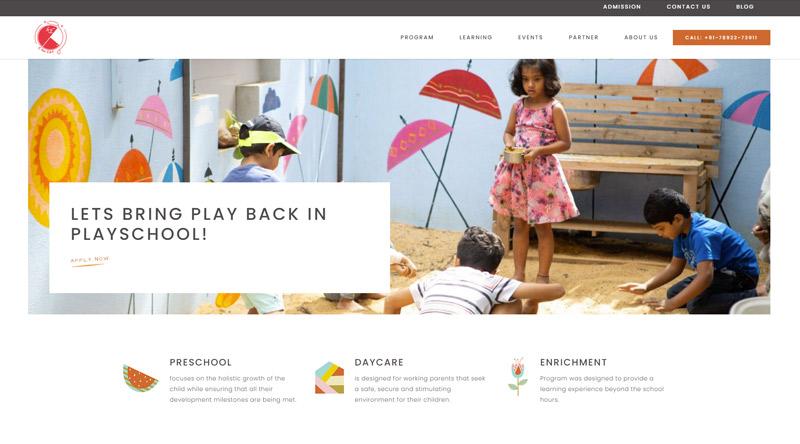 CforCat kindergarten website