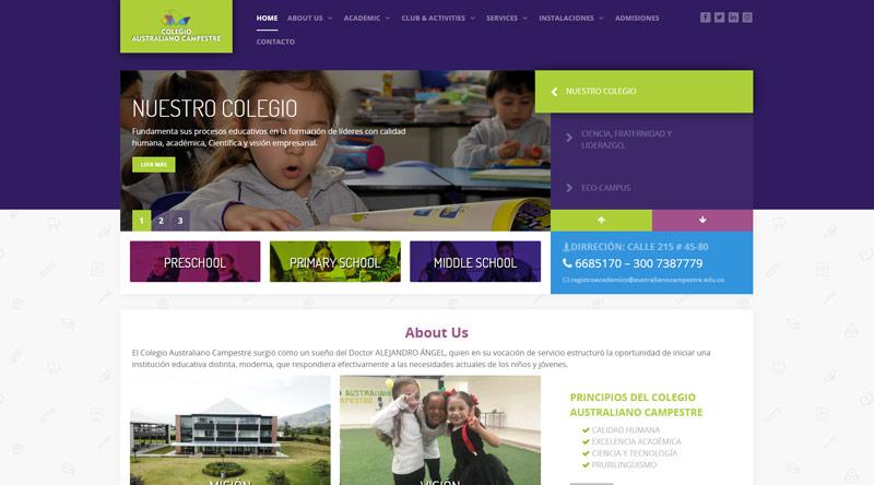 Colegio Australiano Campestre website