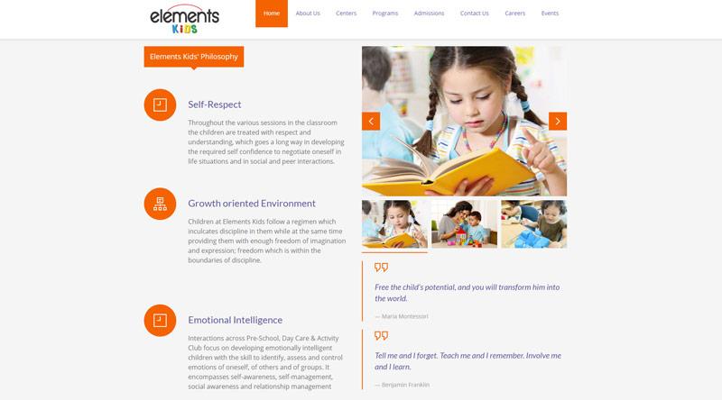 Element Kids website