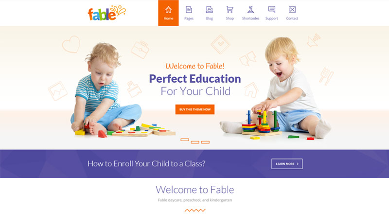Fable Kindergarten WordPress Themes