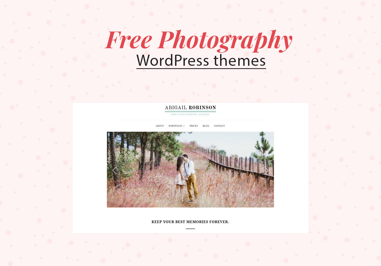 Free Photography WordPress Themes for Perfect Website