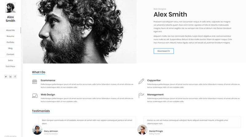 Kerge Resume WordPress Theme
