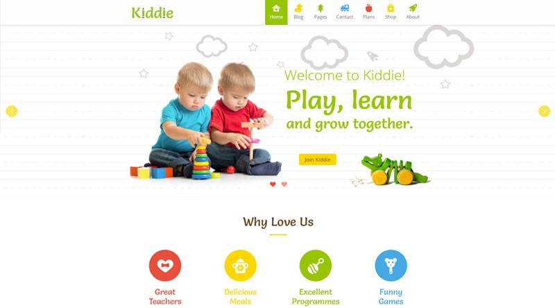 Kiddie Kindergarten WordPress Theme