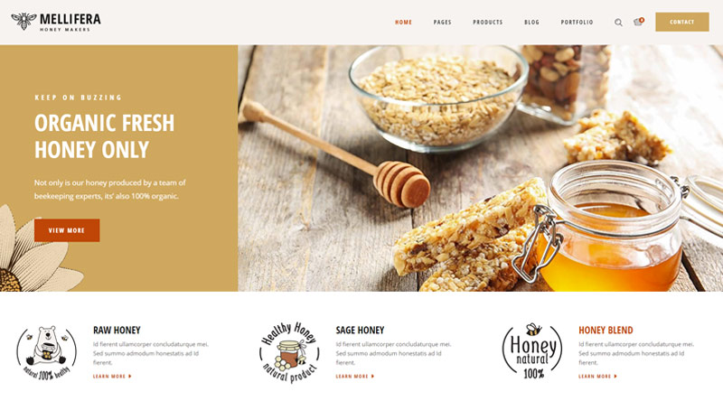 Mellifera Beekeping and Honey Shop Theme