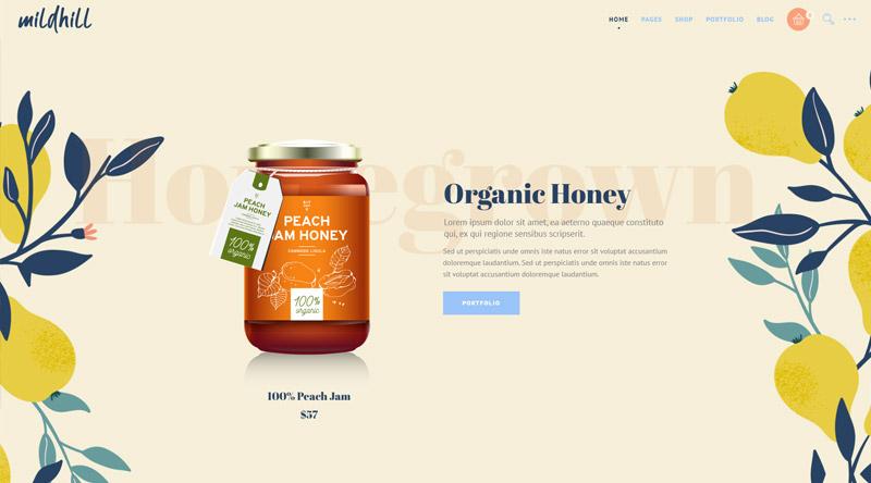 Mildhill Honey WordPress Themes