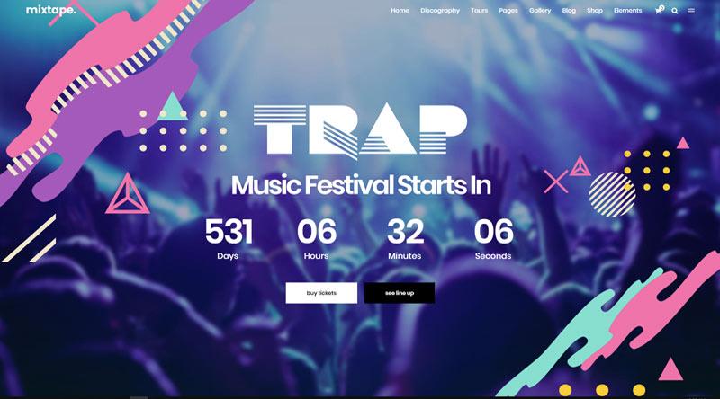 Mixtape Festival WordPress Theme