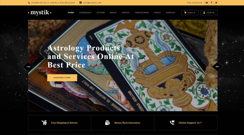 Mystik Astrology WordPress Themes