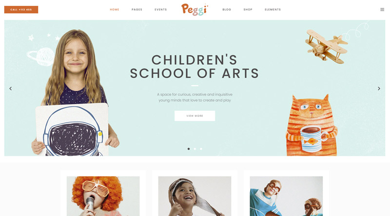 Peggi Kindergarten WordPress Themes