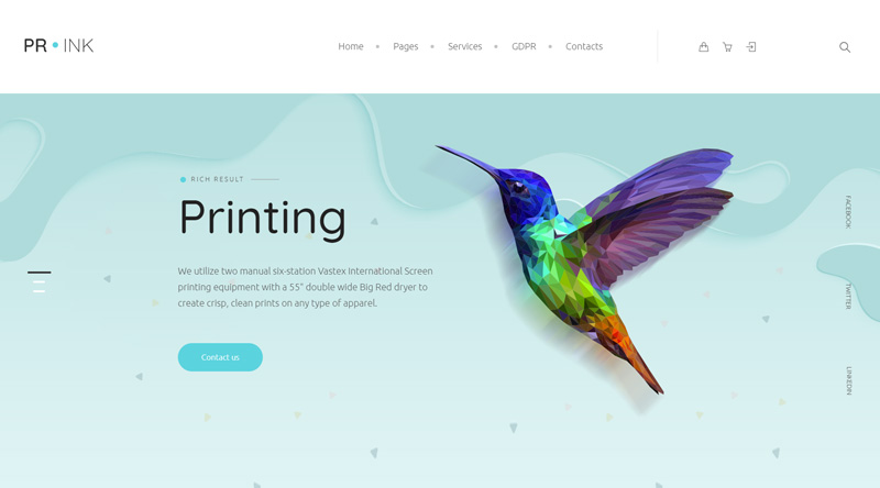 Prink Print Shop WordPress Theme