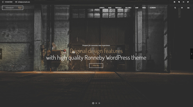 Ronneby WP Theme